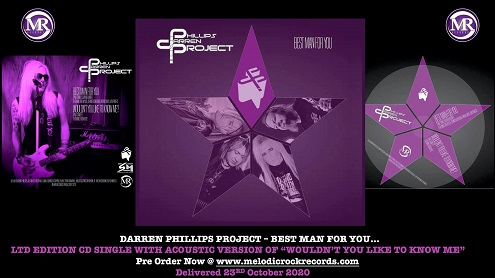 ORDER The Darren Phillips Project - 'Best Man For You' CD-single